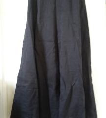 Fekete hosszú vászon szoknya, XS/S-es
