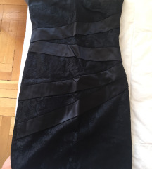 Orsay alkalmi fekete csipkés+selyem szoknya