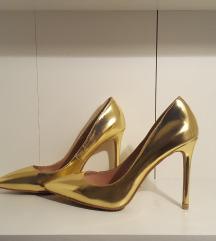 Zara style arany magassarkú