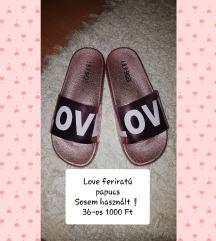 Love feliratú papucsok❗👡 1000 Ft/db