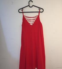 Piros pántos ruha