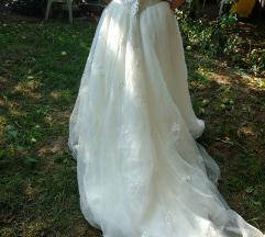 áresés! fehér uszályos tüllös menyasszonyi ruha