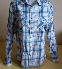 S-Star/09 férfi fehér-kék kockás ing, M-es