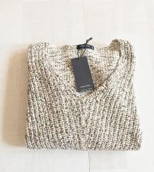 Reserved új pamut kötött pulóver