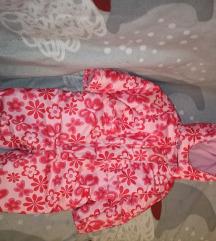 Baba/kislány meleg téli overál rózsaszín mintás