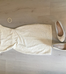Zara ruha törpesarkú cipő