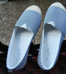 ♡ Kék-fehér espadrilles ♡