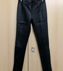 fekete műbőr leggings