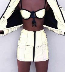 S-es fényvisszaverő party mini szoknya