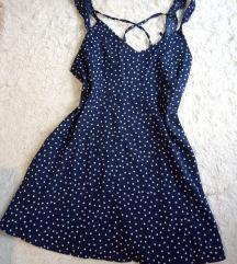Pöttyös ruha Kék színben