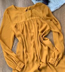 H&M mustársárga ruha