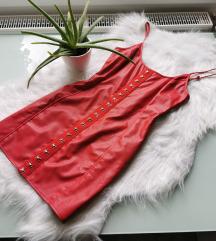 Piros bőr hatású MISSGUIDED ruha Új ❤️