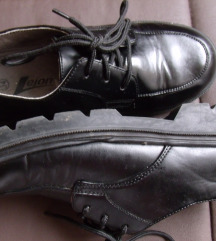 Fiú bőrcipő, fekete, LEJON márka, 34-es/ csere is