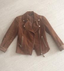 Velúrbőr kabát