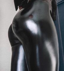 Új! Magasdereku Fényesebb anyagú bőr legging