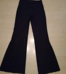 rakott szárú fekete alkalmi női nadrág