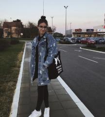 Zara oversized farmerkabát