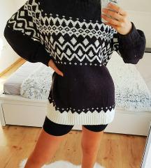 H&M hosszú kötött pulcsi, pulcsiruha