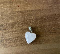 Ásvány medál -szív
