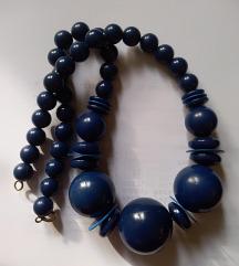 Kék retró nyaklánc