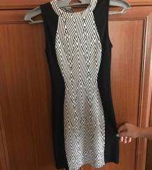 Fekete fehér női alkalmi ruha