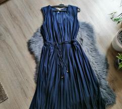 Sötétkék H&M-ben vásárolt elegáns ruha