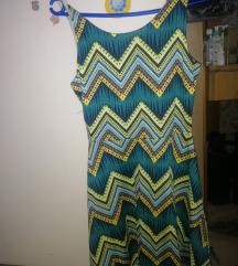 h&m zöld mintás ruha