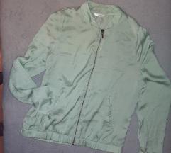 Világoszöld szatén dzseki