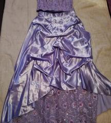 Lila koszorúslány ruha