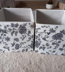 3 pöttyös, 2 virágos Ikea doboz