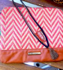 Bershka fonott táska + ZARA nyaklánc