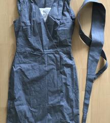 szürke csíkos ruha