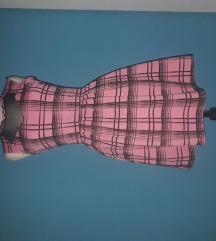 Kockás rózsaszín ruha