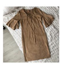 Barna velúr hatású ruha