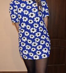 kék virágos ruha tunika