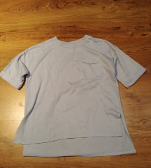 Bershka babakék zsebes póló