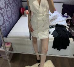 ÚJ PrettyLittleThing blézer ruha fehér