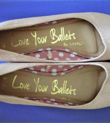 Púderrózsaszín balerina-cipő