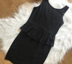 Ujjatlan fekete fodros kis ruha M ÚJ