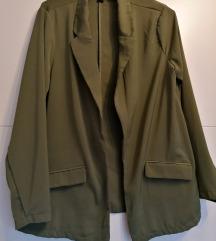 Amisu zöld blézer kabátka