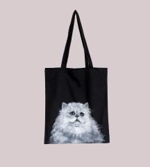 🐾 ÚJ macskás vászonszatyor postával