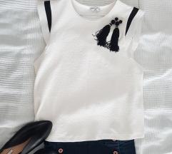 Fekete-fehér Zara póló