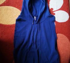 Kék, ujjatlan pulóver