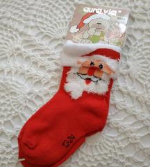 Új, télapós kis zokni
