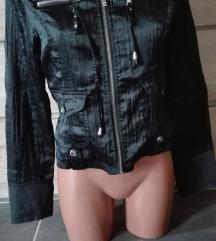 Vagány dzseki, korom fekete színű