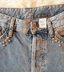 H&M Vintage fit magas derekú farmer