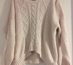 Púder kötött pulóver