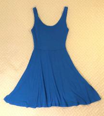 Kék pamut-viszkóz ruha