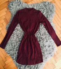 Bordó kötött ruha