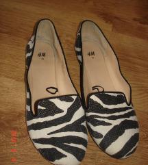 H&M tigrismintás vászoncipő, 39,újszerű